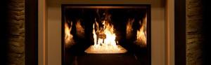 close up of fireplace