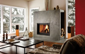 Valcourt Wood Fireplace