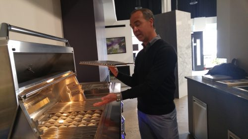 Brian Eskew of Twin Eagles Grills at Hubert's Fireplace Consultation + Design in Ottawa, Canada