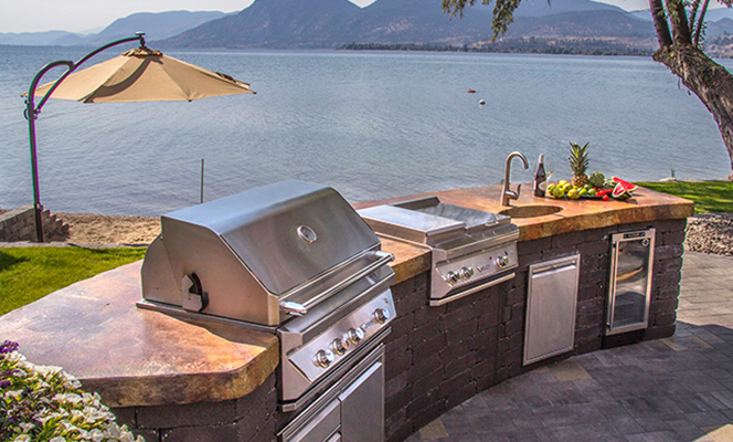outdoor kitchen, Hubert's fireplaces