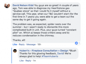 "alt=""Testimonial Hubert's Fireplace Consultation + Design"""